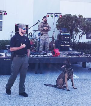 The Do You Give a Ruck Veterans event also included canine demonstrations.